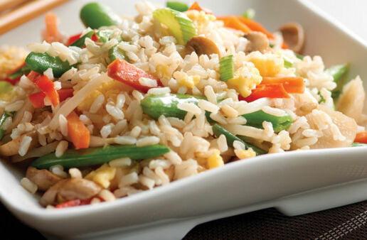 Quick Vegetable Fried Rice with Jasmine Rice