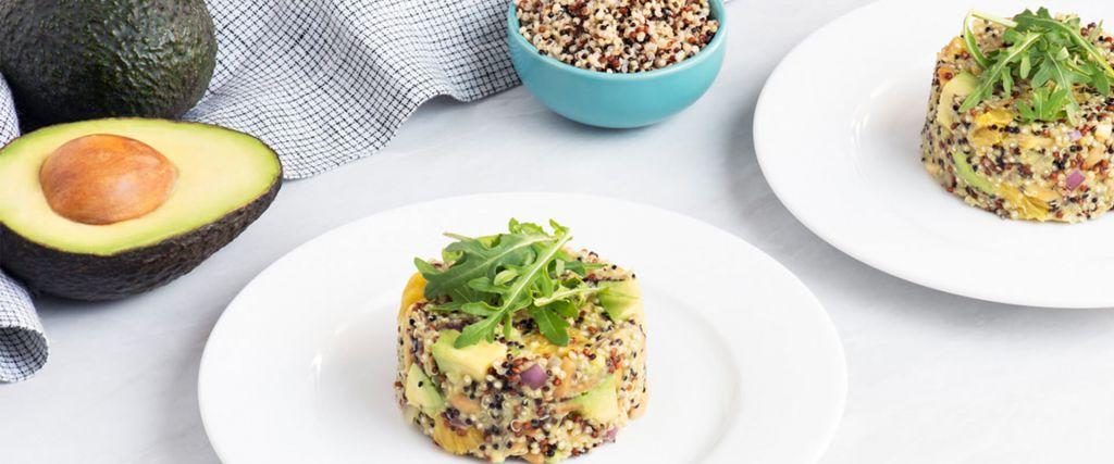 Quinoa Avocado and Citrus Salad with Tri-Color Quinoa