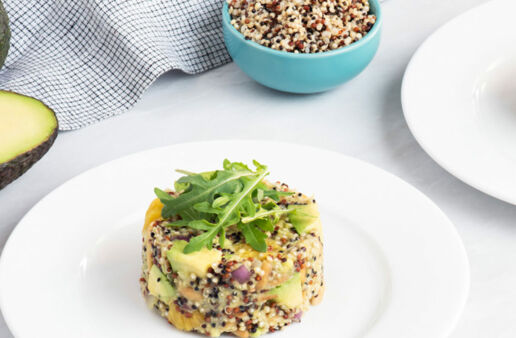 Quinoa Avocado and Citrus Salad with Tri-Color Quinoa