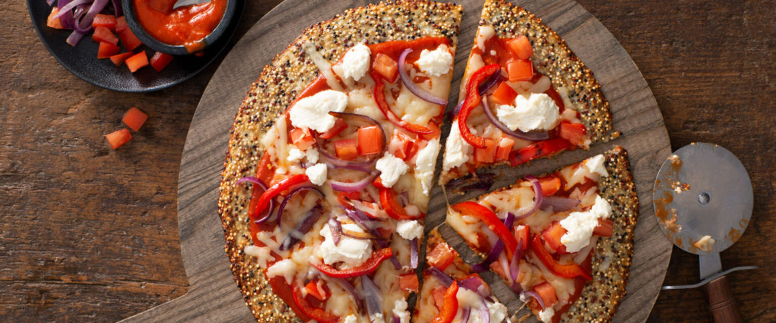 Quinoa Cauliflower Crust Pizza