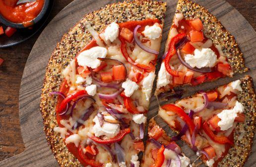 Quinoa Cauliflower Pizza Crust
