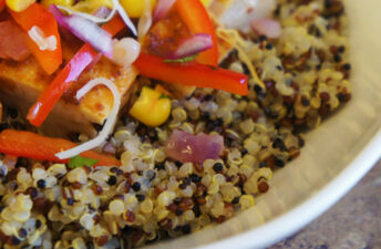 Mexican-Inspired Chicken Quinoa Fajita Bowls