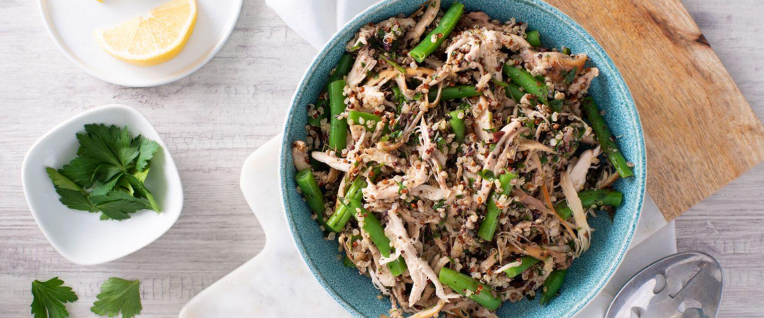 Chicken Quinoa Salad with Olive Gremolata