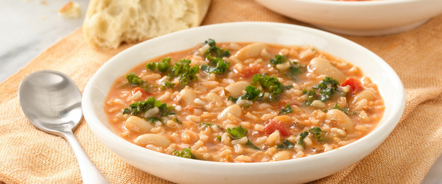 Kale, Bean and Rice Soup