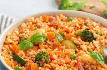 Vegetarian Primavera Brown Rice
