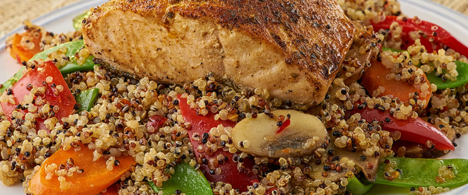 Salmon with Sweet and Spicy Quinoa