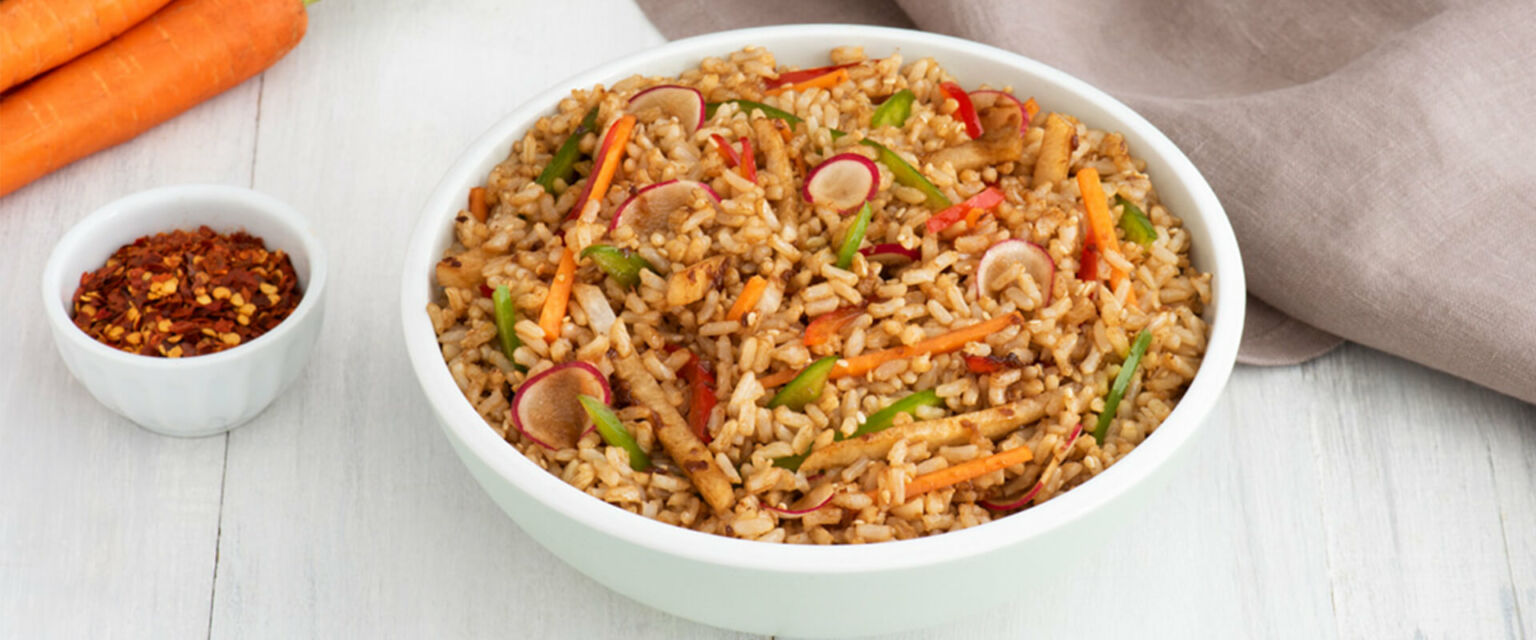 Sesame Brown Rice Salad