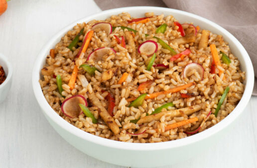 Whole Grains Sesame Brown Rice Salad