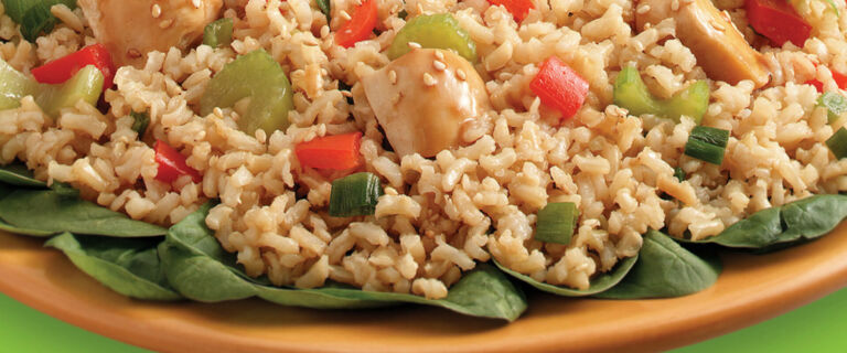 Sesame Ginger Chicken and Brown Rice