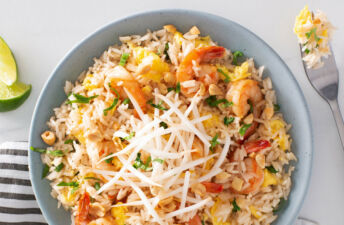 Shrimp Pad Thai with Jasmine Rice