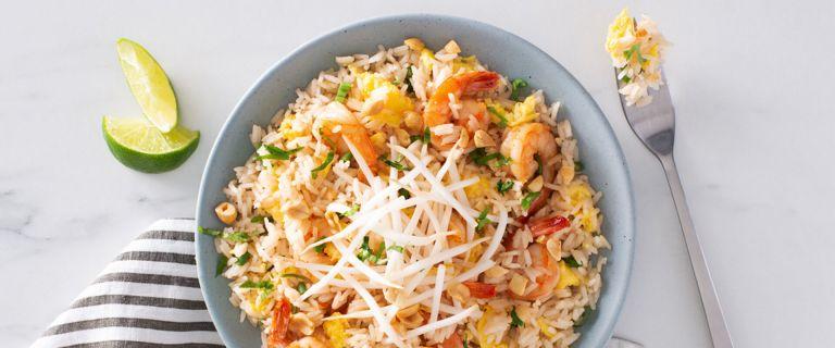 Shrimp Pad Thai with Jasmine Rice