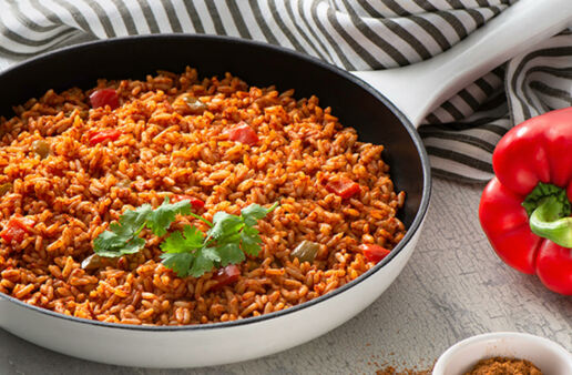 Spanish Rice with Taco Seasoning and Bell Peppers