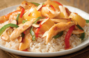 Sweet and Sour Chicken and White Rice