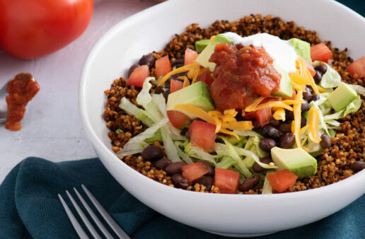 Vegetarian Taco Bowls with Quinoa and Black Beans