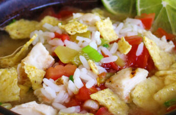 Easy Chicken Tortilla Rice Soup