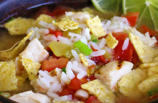 Easy Chicken Tortilla Rice Soup