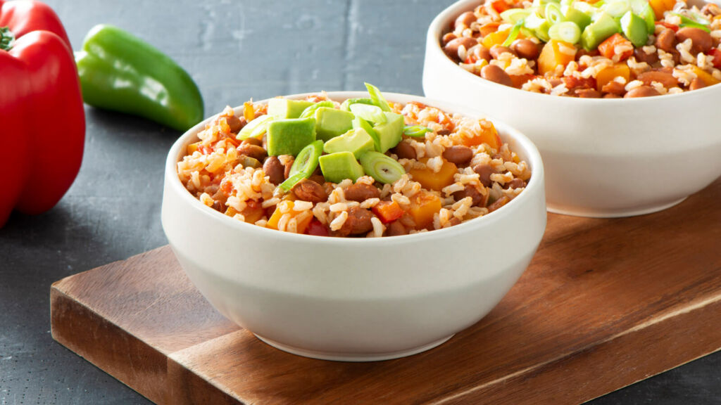 Vegetarian Pumpkin & Brown Rice Chili with Avocado