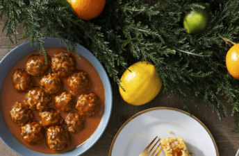 Grandmother's Porcupine Meatballs with Brown Rice