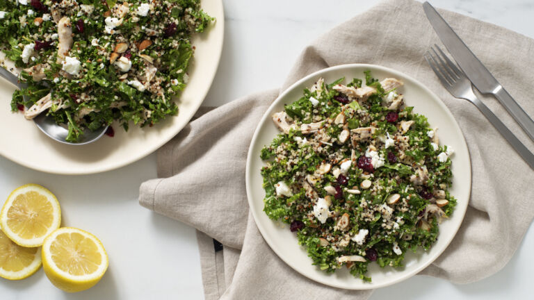 Kale and Quinoa Salad with Chicken