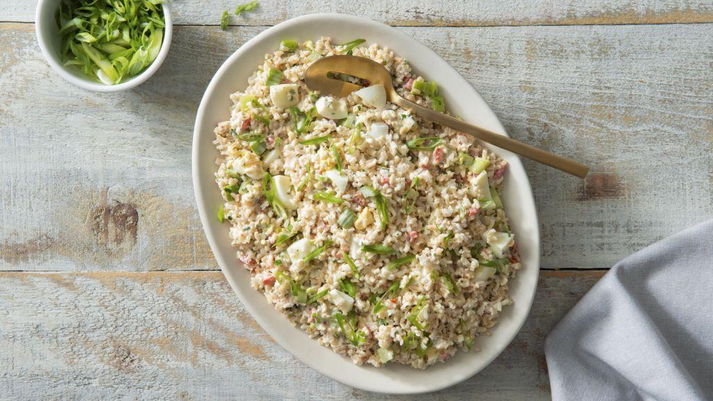 California Creamy Rice Salad with egg
