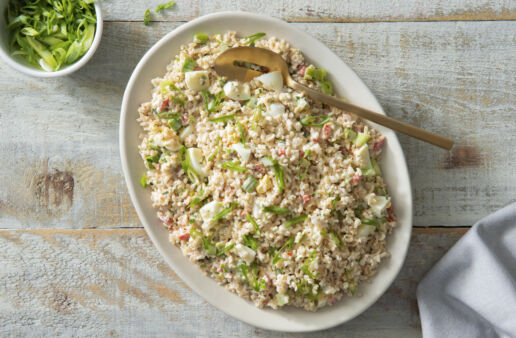 California Creamy Rice Salad with egg