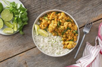 Vegetarian Curry cauliflower Buddha Rice Bowl