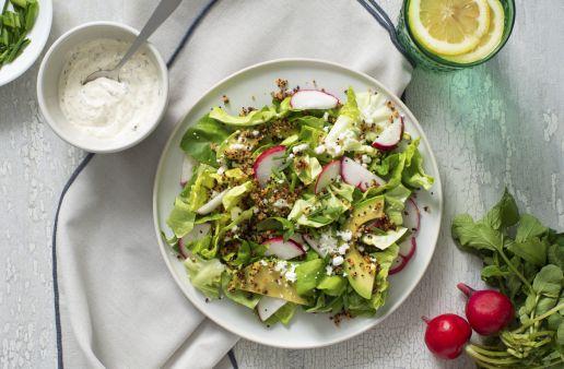 Crunchy Quinoa Spring Salad with Ranch