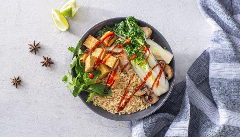 Vegetarian Pho Dinner Rice Bowl