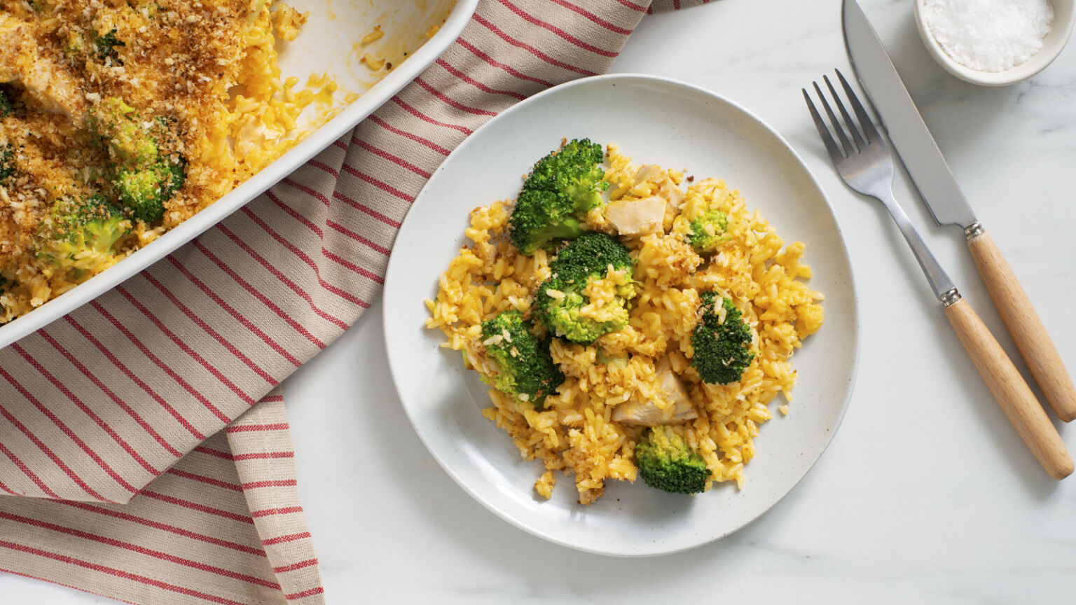 Home-Baked Cheesy Chicken and Broccoli with Rice