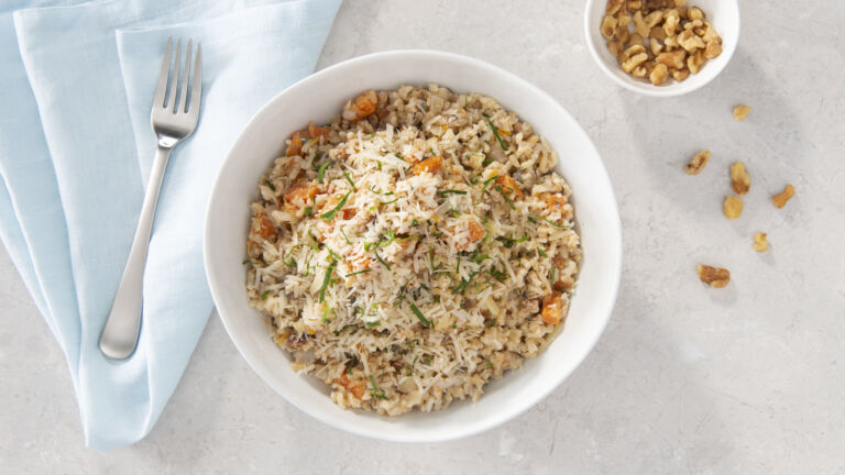 Sweet Potato Walnut Risotto