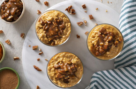 pecan praline pumpkin rice pudding