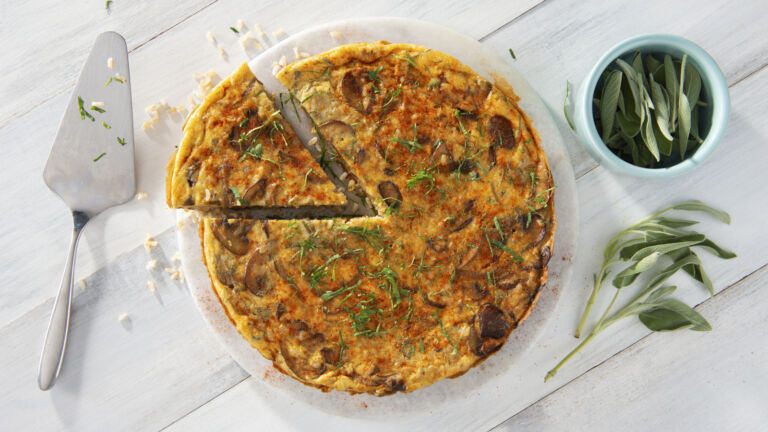 Tortilla Española with Brown Rice