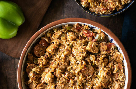 chicken-and-sausage-jambalaya-with-white-rice