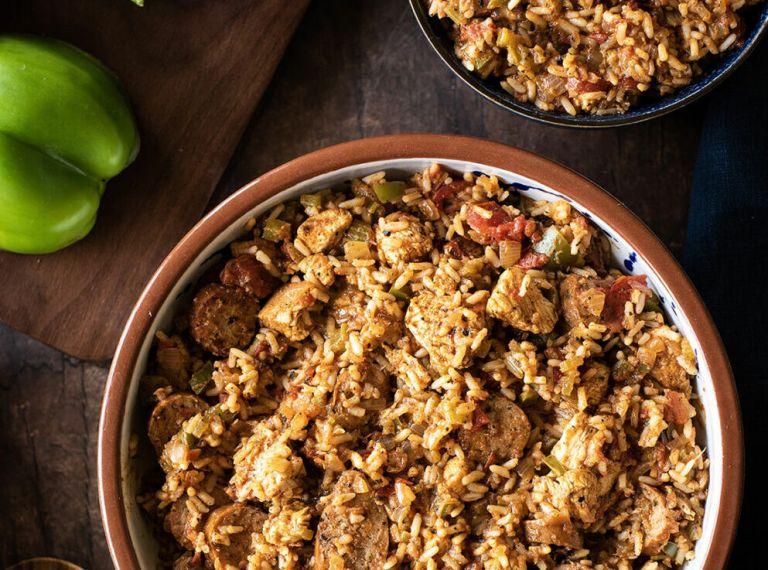 Creole Chicken & Sausage Jambalaya