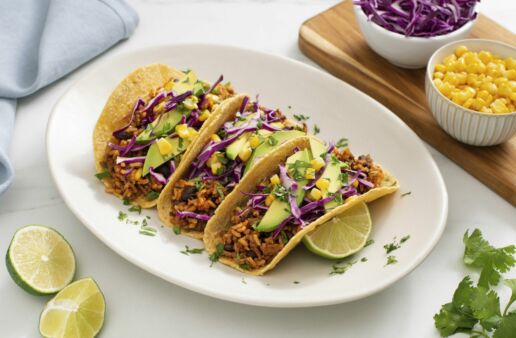 flexitarian-tacos-with-brown-rice-black-beans-corn-and-avocado