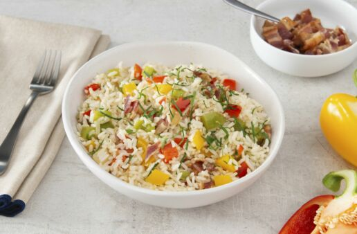 Rice-Pilaf-with-Three-Peppers-and-Bacon