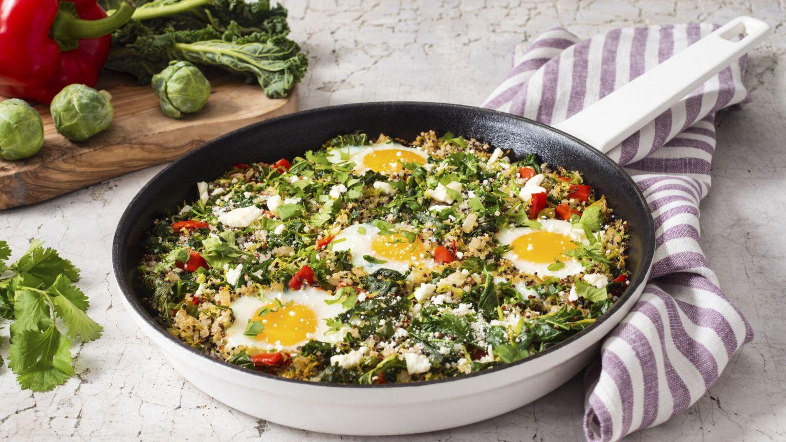 Green Shakshuka with Quinoa