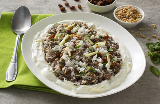 lebanese-rice-with-lamb-greek-yogurt-spices-and-jasmine-rice