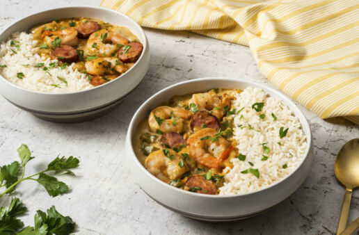 new-orleans-inspired-gumbo-with-chorizo-shrimp-and-white-rice