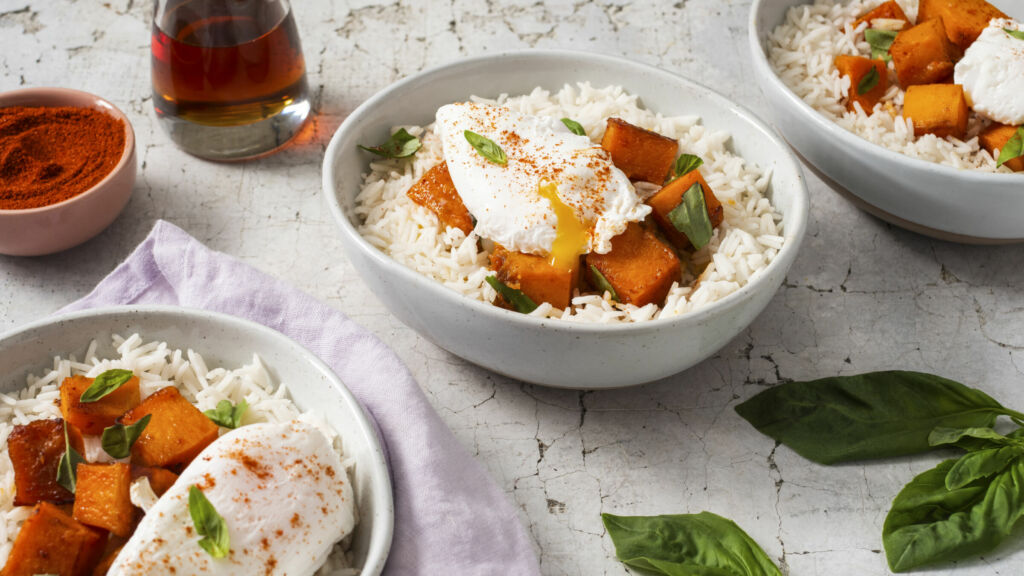 breakfast-bowl-with-basmati-rice-butternut-squash-and-maple-syrup