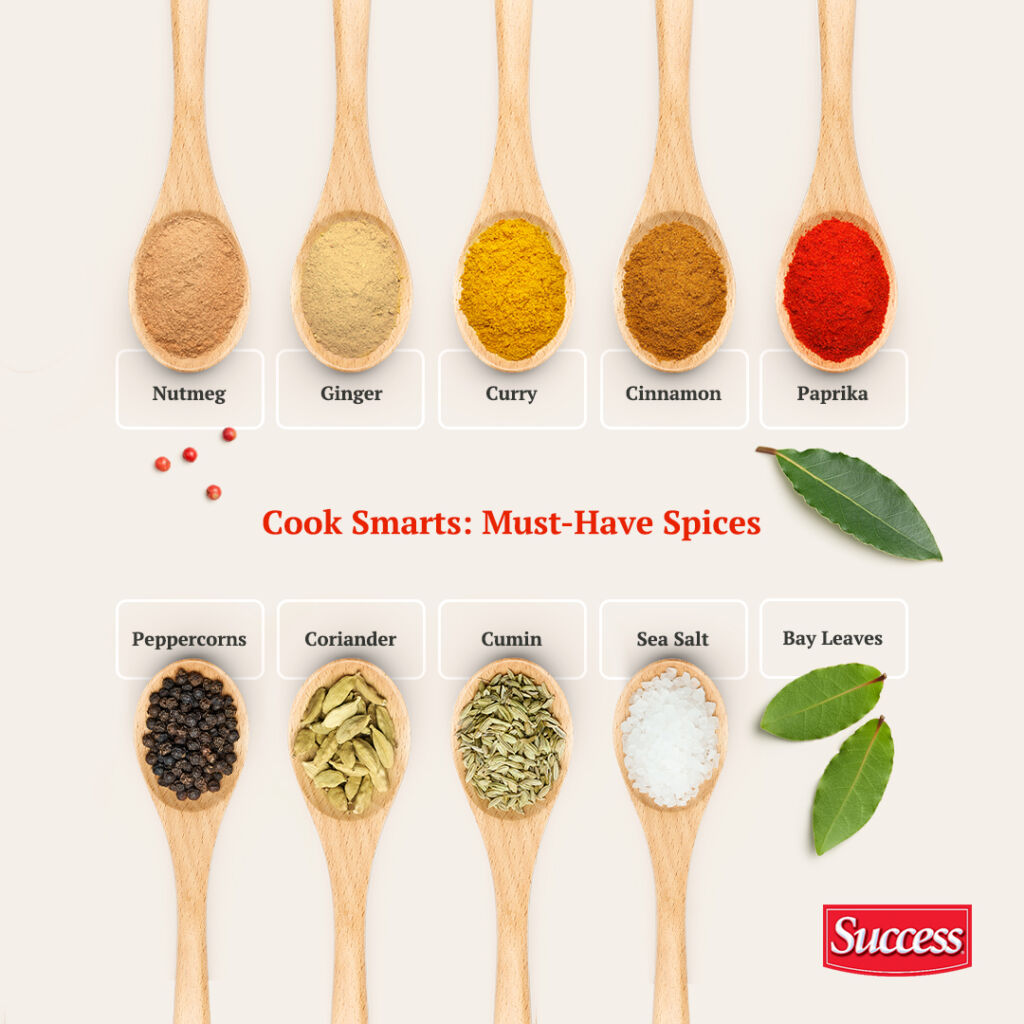 Must-have spices in a chef's kitchen