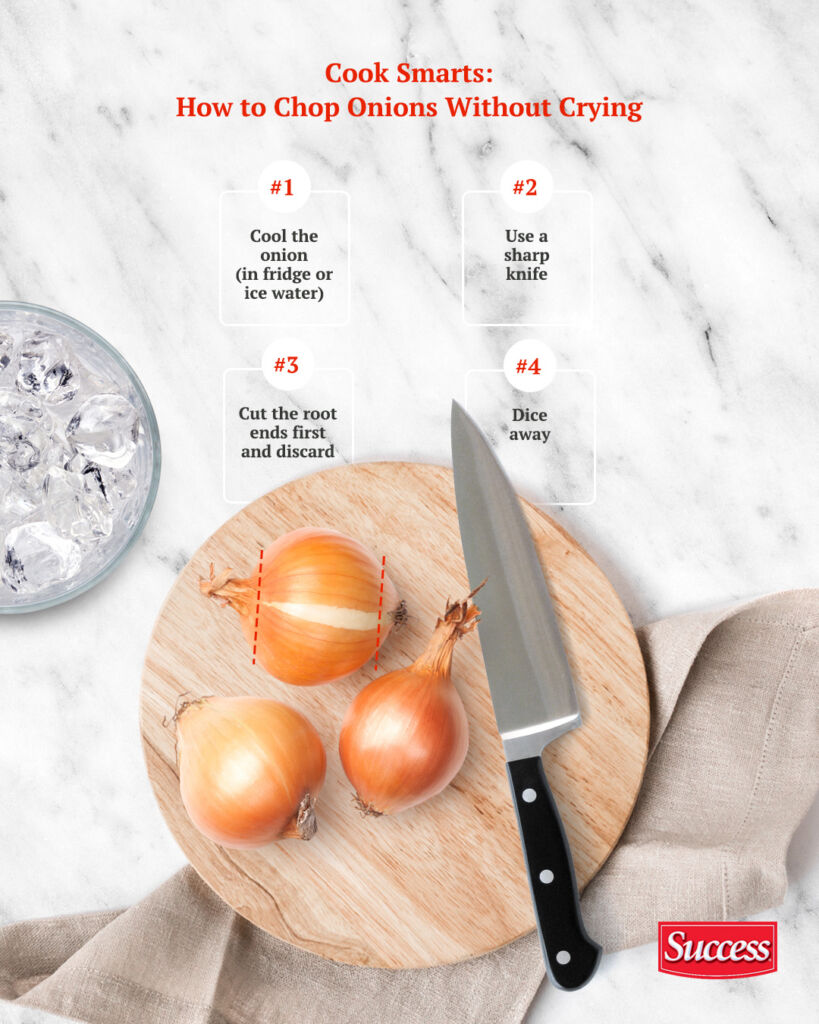 How to properly chop onions without crying