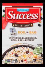 White Rice, Black Beans, Corn & Bell Peppers