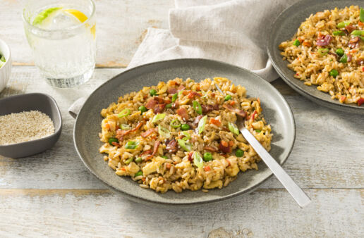 fried-rice-with-bacon-eggs-and-success-garden-and-grains