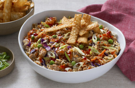 eggroll-in-a-bowl-with-wonton-strips-shredded-cabbage-chili-sauce-sesame-oil-and-ground-pork