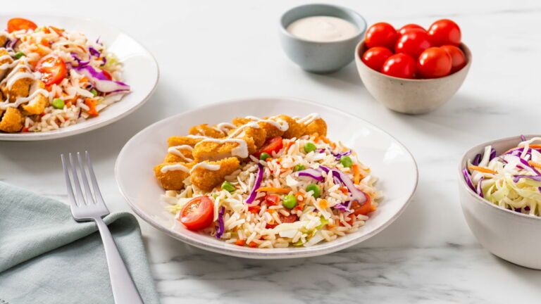 Fried Chicken and Rice Salad