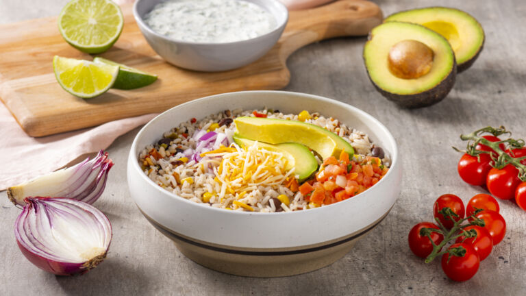 Southwest Rice and Beans Bowl
