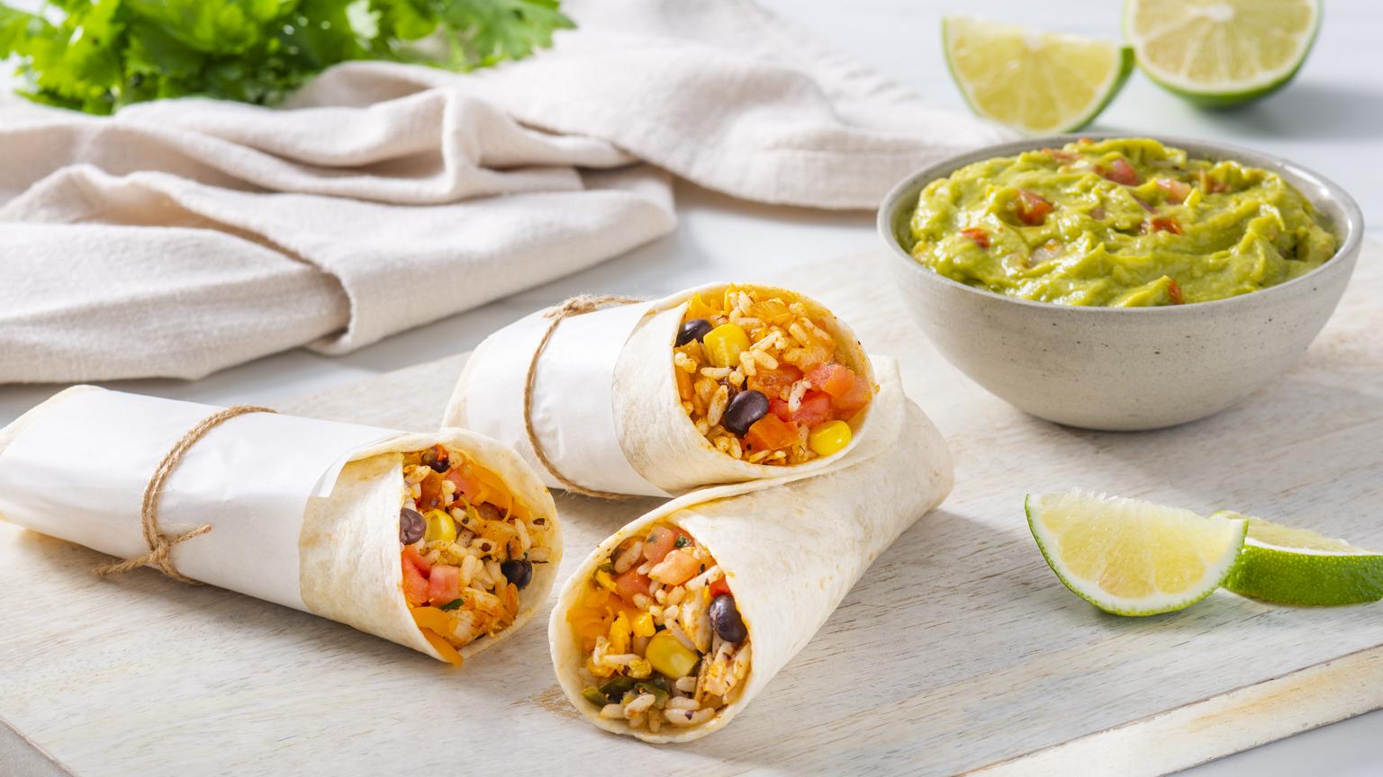 Tex Mex Chicken Burrito