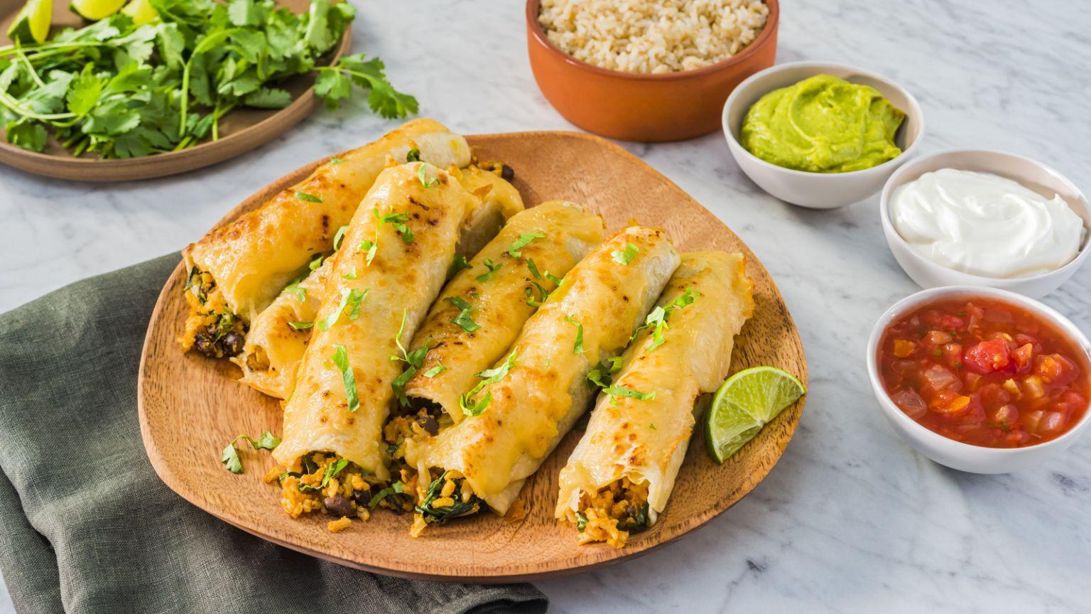 Baked Vegetarian Taquitos