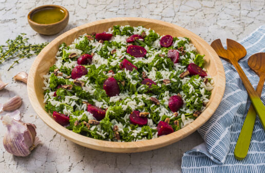 Beet-Kale-and-Jasmine-Rice-Salad-with-cider-dressing